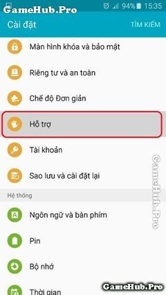 Hướng dẫn cách kích hoạt phím Home ảo cho máy Samsung
