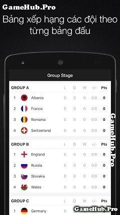 Tải EURO 2016 - Xem Lịch Thi Đấu EURO 2016 Android