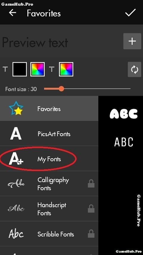 Hướng dẫn cách thêm Font chữ từ bên ngoài cho PicsArt
