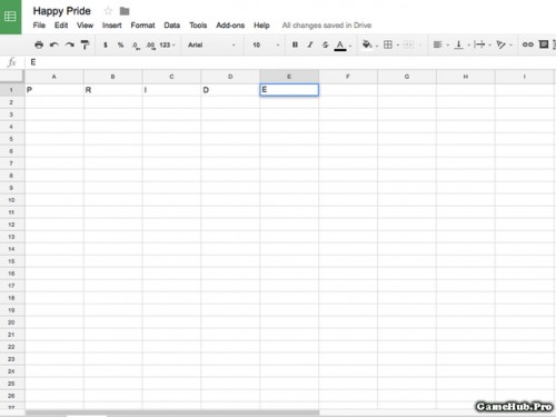 Cách biến trang tính Google Sheet thành bảng màu cầu vồng