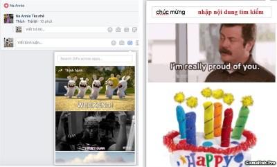 Hướng dẫn cách bình luận bằng ảnh GIF trên Facebook