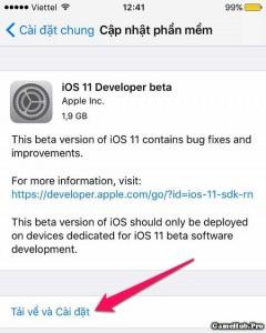 Hướng dẫn cập nhật phiên bản iOS 11 Beta trên iPhone/iPad