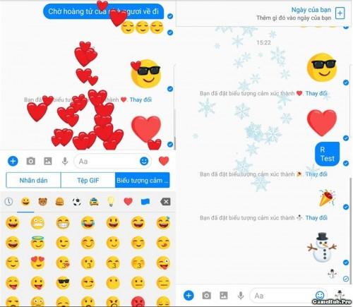 Cách gửi icon hiệu ứng, khổng lồ trên Facebook Messenger