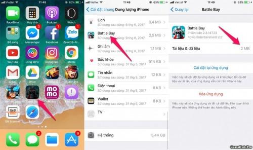 Hướng dẫn gỡ bỏ ứng dụng mà không mất dữ liệu iOS 11