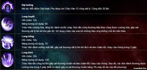 Liên Quân Mobile: Cách chơi và lên đồ tướng Triệu Vân