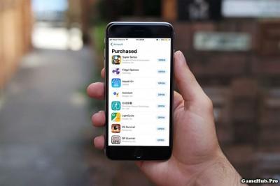 Xem tất cả ứng dụng đã mua ở App Store trên iOS 11