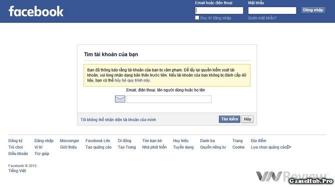 Thủ Thuật Lấy Lại Tài Khoản Facebook Khi Bị Hack