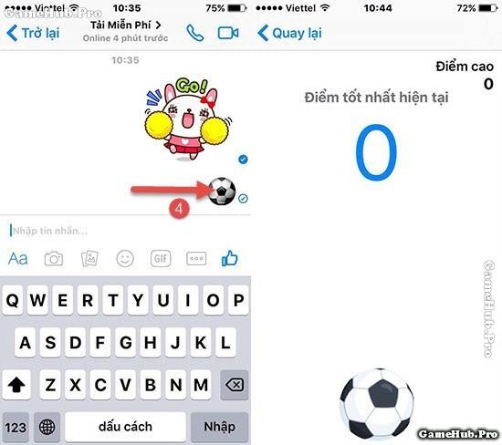 Hướng dẫn cách chơi bóng đá trên Facebook Messenger