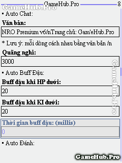 Hack Ngọc Rồng Online 125 Premium v6 cho Java Android