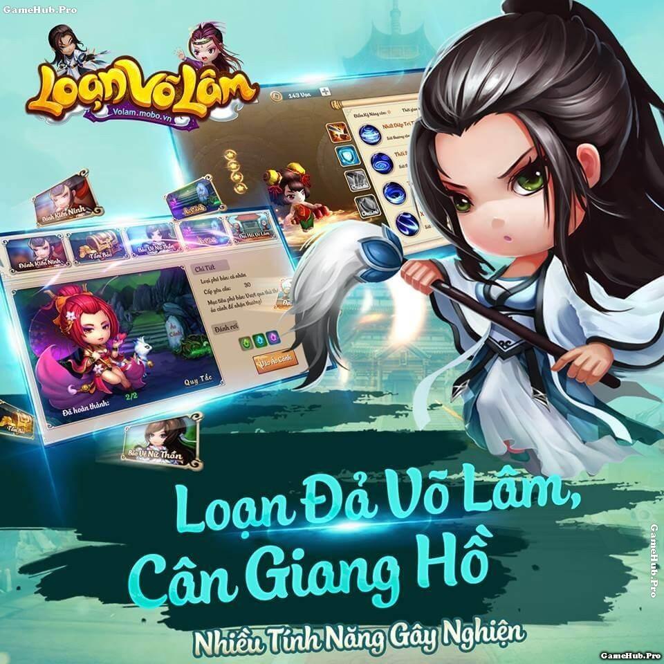 Tải game Loạn Võ Lâm - Kiếm hiệp Chibi 3D Android IOS