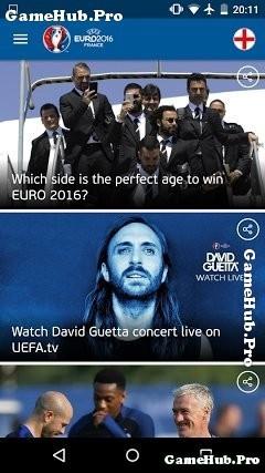 Tải UEFA EURO 2016 - Ứng dụng cho Euro 2016 Android