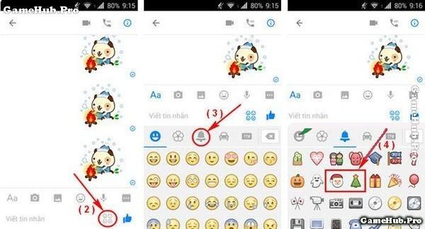 Hướng dẫn tạo hiệu ứng tuyết rơi trên Facebook Messenger