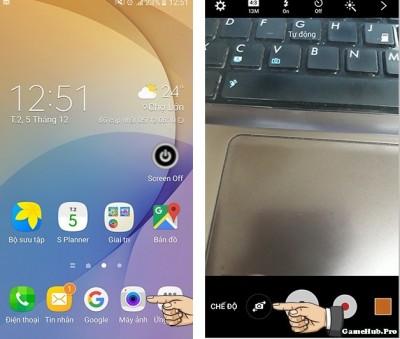 Bật đèn Flash camera trước một số điện thoại Android