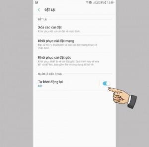 Bật/tắt tự khởi động lại trên Samsung Galaxy J7 Pro