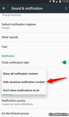 Cách ẩn nội dung các thông báo màn hình khóa Android