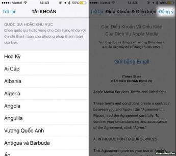 Hướng dẫn thay đổi quốc gia trên App Store để tải ứng dụng