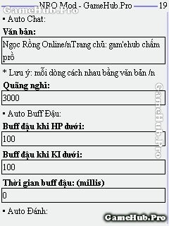 Hack Ngọc Rồng Online 153 Premium v6.9 cho Java Android
