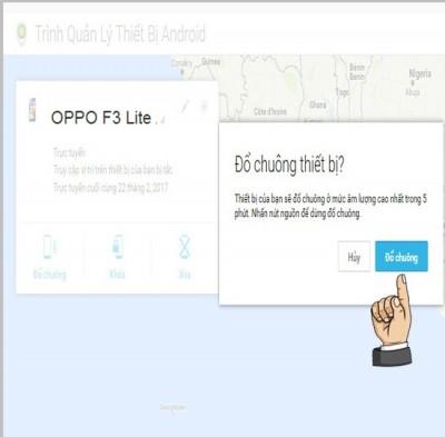 Hướng dẫn định vị tìm điện thoại OPPO F3 Lite A57 khi mất