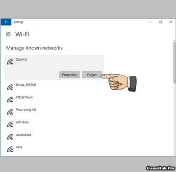 Hướng dẫn cách xóa mật khẩu WiFi đã lưu trên Windows 10