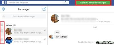 Cách xóa nhiều hoặc toàn bộ tin nhắn Facebook Messenger