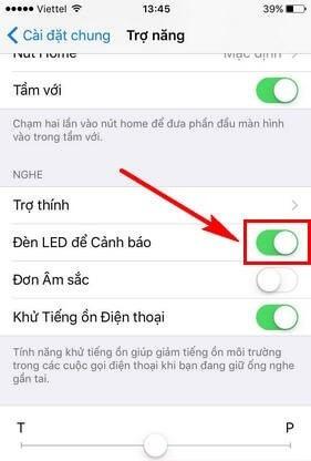 Hướng dẫn bật/tắt đèn led nháy khi nhận cuộc gọi iPhone