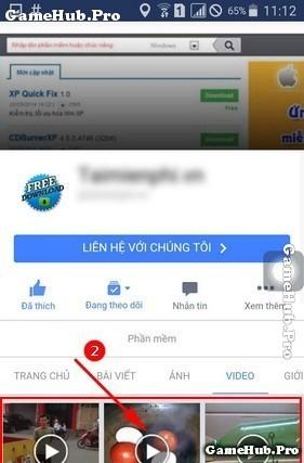 Hướng dẫn cách tải Video trên Facebook cho điện thoại