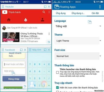 Mẹo chạy đa nhiệm nhiều cửa sổ ứng dụng cho Android