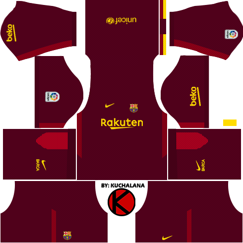 Barcelona Kits & Logo Dream League Soccer 2017