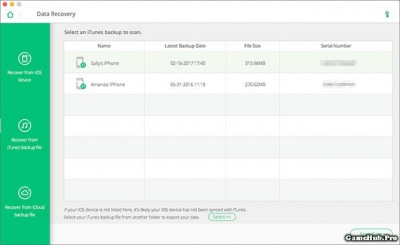 Hướng dẫn cách khôi phục dữ liệu đã mất trên iPhone/iPad