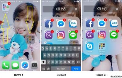 Hướng dẫn lồng Folder (Thư mục) vào nhau trên iPhone