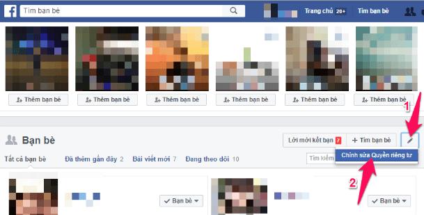 Thủ thuật ẩn chỉ mình tôi danh sách bạn bè trên Facebook