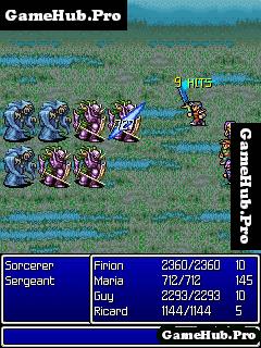 Tải game Final Fantasy 1-2 - Đánh theo lượt cho Java