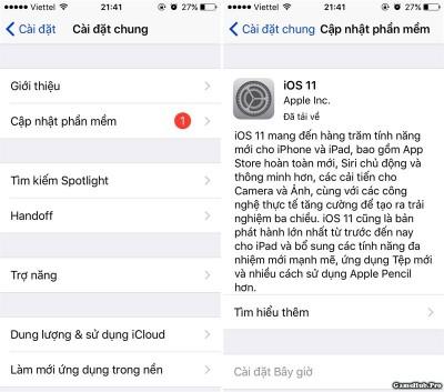 Hướng dẫn cập nhật iOS 11 chính thức qua OTA và iTunes