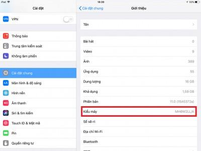 Hướng dẫn cách nhận biết dòng model iPad đơn giản nhất