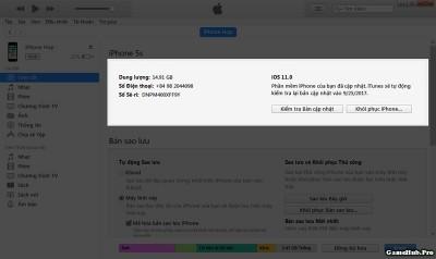Hướng dẫn hạ cấp iOS 11 về iOS 10.3.3 nhanh an toàn nhất