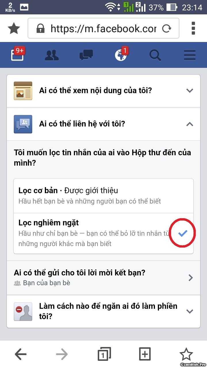 Chặn tin nhắn rao bán SIM trên Facebook Vĩnh Viễn