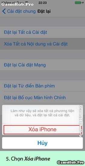 Hướng dẫn cách xóa toàn bộ dữ liệu điện thoại iPhone