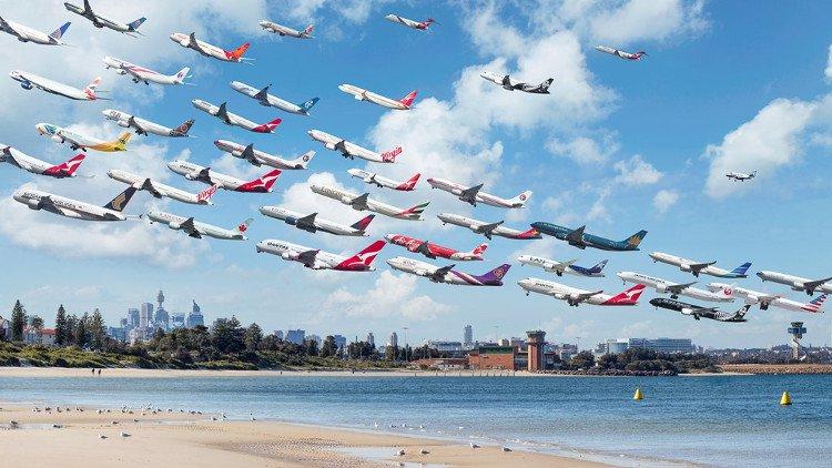 Hình ảnh máy bay hạ cánh và cất cánh đẹp trên thế giới
