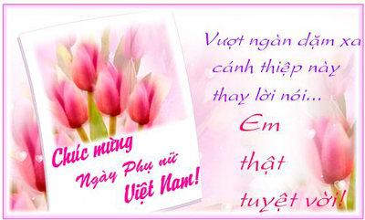 Lời chúc ngày 20/10 phụ nữ Việt Nam hay và ý nghĩa nhất