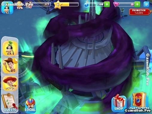 Tải game Disney Magic Kingdoms cho Android xây công viên