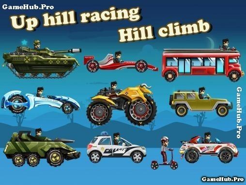 Tải game Up Hill Racing - Lái xe Hack Full Tiền Android