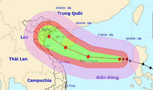 Tin bão Sarika số 7 sẽ đổ bộ vào Việt Nam vài ngày tới