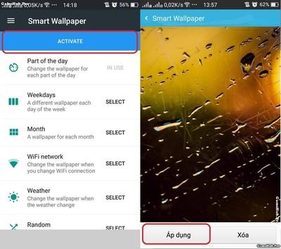 Hướng dẫn tự động thay đổi hình nền rất hay trên Android
