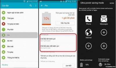Các chế độ tiết kiệm Pin trên điện thoại bạn cần biết