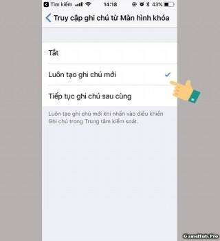 Hướng dẫn cách ghi chú nhanh trên màn hình khóa iPhone