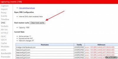 Cách xóa cache DNS trên Google Chrome và Máy Tính