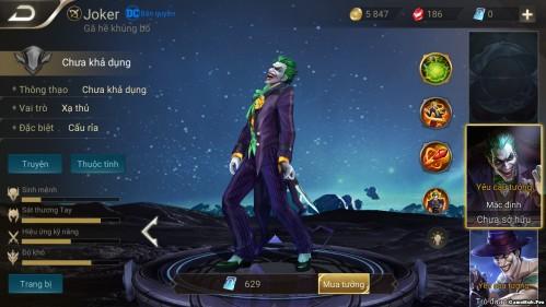 Liên Quân: Cách chơi và lên đồ trang bị tướng Joker