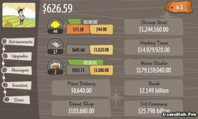 Tải game AdVenture Capitalist - Nhà đầu tư Mod Money Android