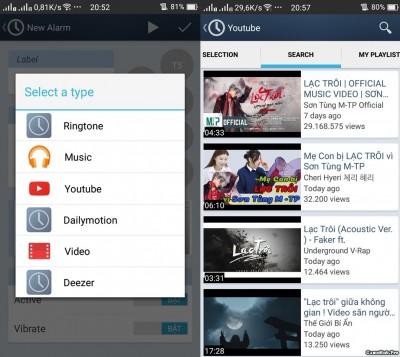 Hướng dẫn tạo báo thức bằng Video cực độc trên Android