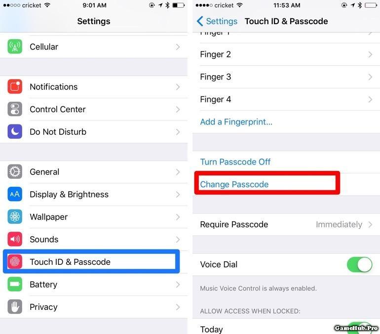 Thủ thuật đặt mật khẩu 6 số trên iPhone, iPad IOS 9